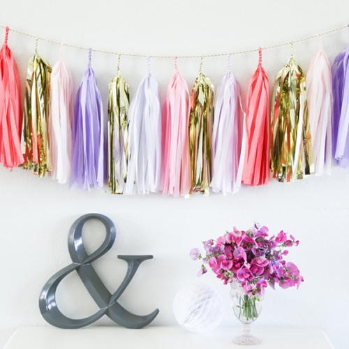 Paper Tassel Garland in Love Song