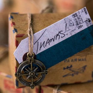 """Well Traveled"" Vintage Paper Tags"