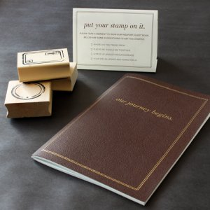 """Our Journey Begins"" Guest Book Kit"