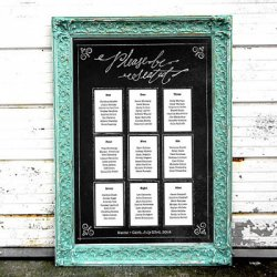 Personalized Chalkboard Print Seating Chart