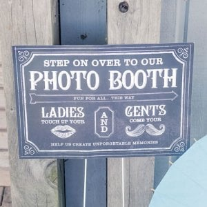 Personalized Chalkboard Print Photo Booth Sign