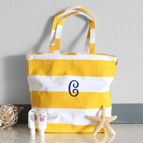 Personalized Rugby Striped Bag