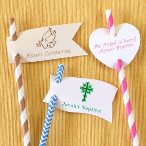 Personalized Party Straw Tags