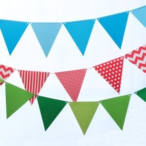 Paper Pennant Banner