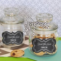 Personalized Bridal Mini Cookie Jars