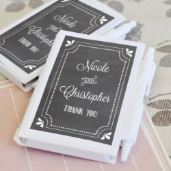 Personalized Chalkboard Notebook Favors