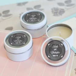 Personalized Chalkboard Round Candle Tin