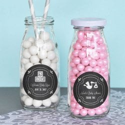 Personalized Chalkboard Milk Bottles
