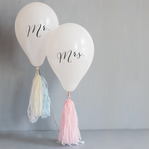 Mr. & Mrs. Celebration Balloons