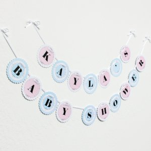 Personalized Baby Shower Garland Banner