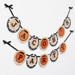 Personalized Birthday Garland Banner