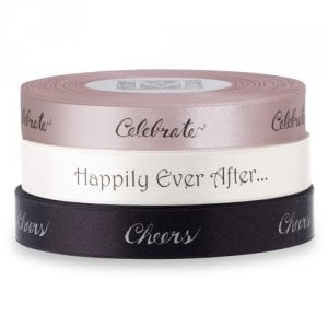 Midori Double Faced Satin Sayings Ribbon