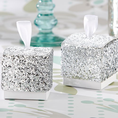 Silver or Gold Glitter Favor Boxes