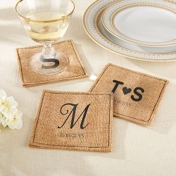 Personalized Burlap Coasters