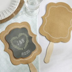 Personalized Kraft Hand Fan