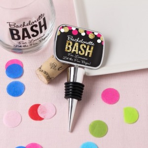 Personalized Bottle Stopper with Epoxy Dome
