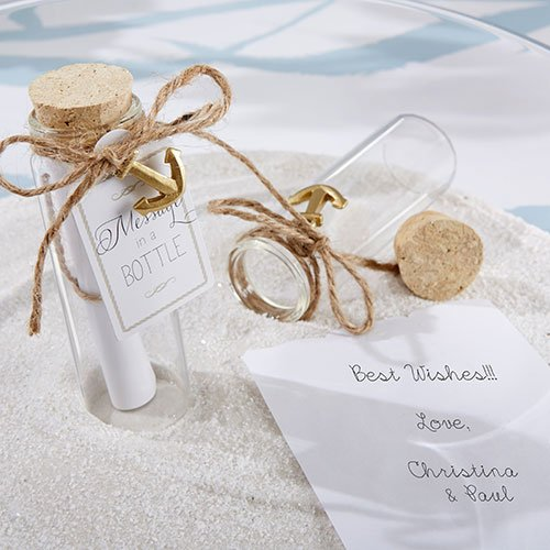 Message in a Bottle Glass Favor, Bottle Glass Favor, Bottle Favor