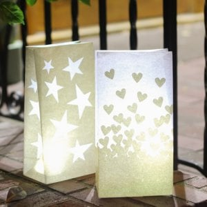 Gold Luminary Bags