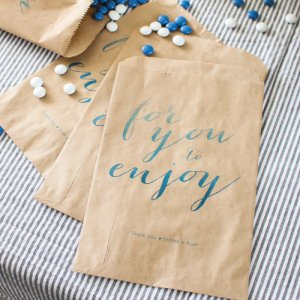 Personalized Watercolor Goodie Bags