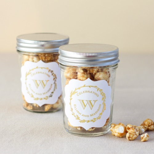 Personalized Metallic Foil Mason Jars