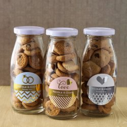 Personalized Metallic Foil Milk Bottles