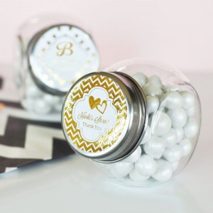 Personalized Metallic Foil Candy Jars