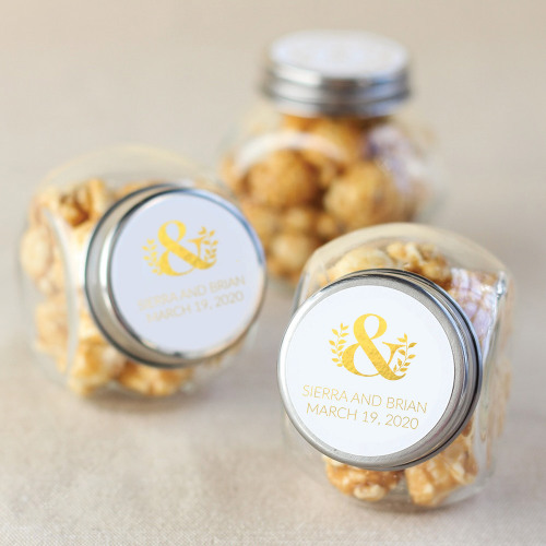 Personalized Eco Ampersand Metallic Foil Candy Jars