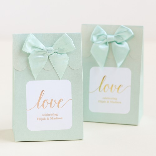 Personalized Love Metallic Foil Candy Bags