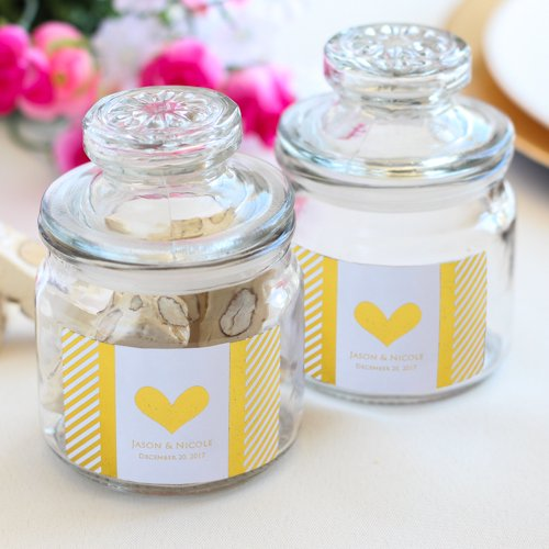 Personalized Metallic Foil Mini Cookie Jars