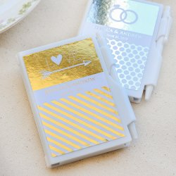 Personalized Metallic Foil Notebook Favors