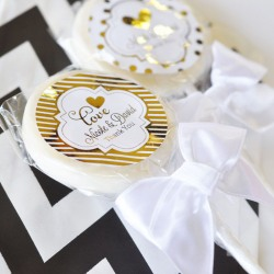 Personalized Metallic Foil Lollipop Favors