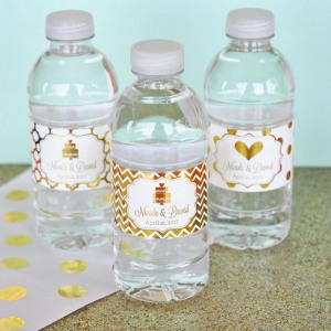 Personalized Metallic Foil Drink Labels