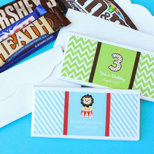 Personalized Kids Birthday Candy Covers