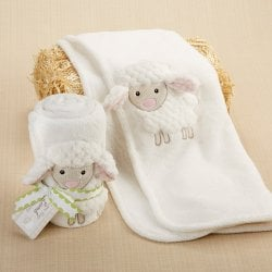 Love Ewe Lamb Plush Baby Blanket