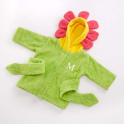 Personalized Showers and Flowers Hooded Robe