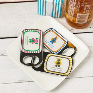 Personalized Baby Themed Bottle Openers with Epoxy Dome