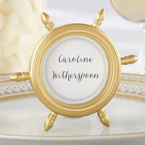 Ship Wheel Place Card Holder/Photo Frame