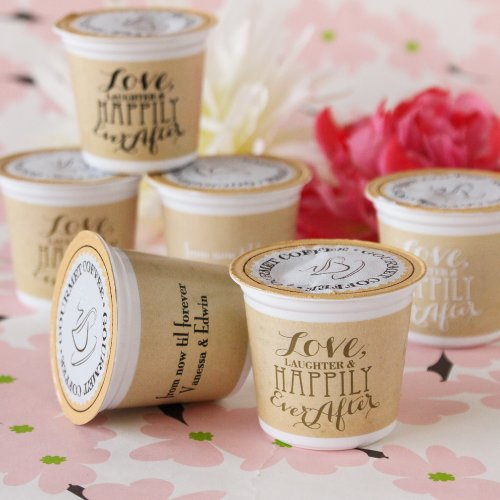 Personalized Love Laughter K-Cup Coffee Favors