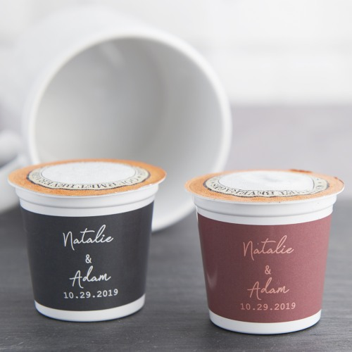 Personalized K-Cup Industrial Script Coffee Favors