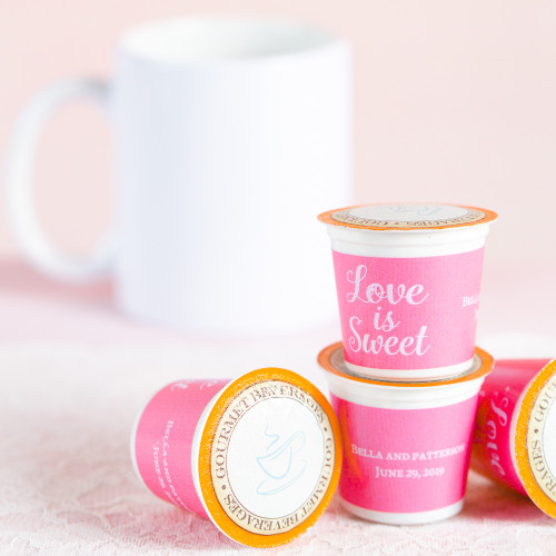 Personalized Love is Sweet K-Cup Coffee Favors