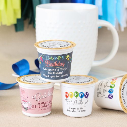 Personalized Birthday K-Cup Coffee Favors