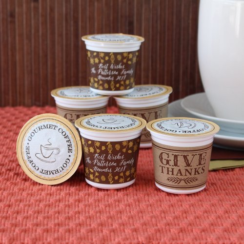 Personalized Thanksgiving K-Cup Coffee Favors