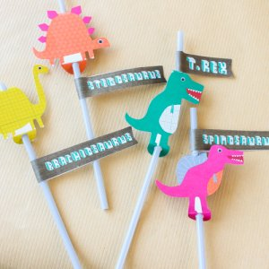 Dinosaur Party Straws