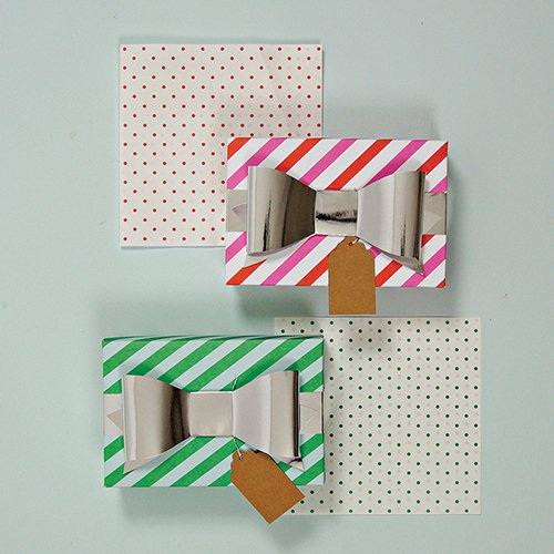 Be Jolly Treat Boxes with Tissue Paper