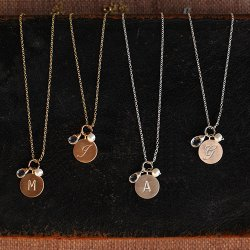 Circle Letter Necklace