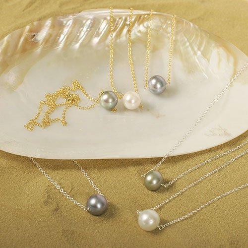 Pearl Solitaire Necklaces