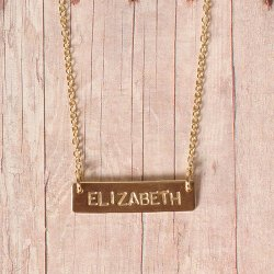 Custom Bar Name Necklace
