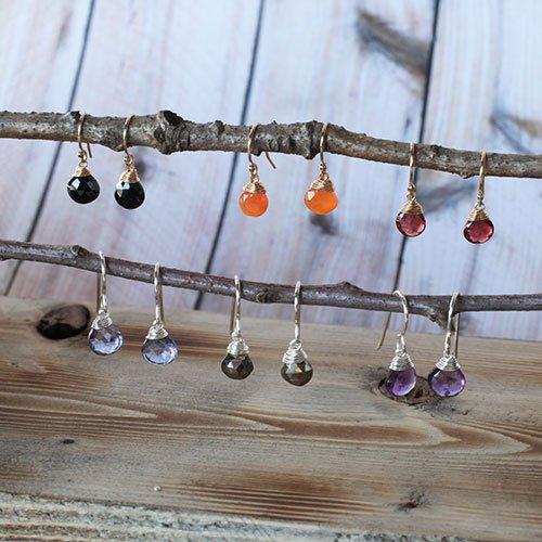 Solo Stone Earrings