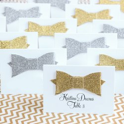 Glitter Bow Place Cards
