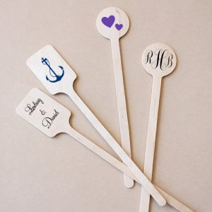 Personalized Wedding Stir Sticks